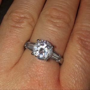 Beautiful Moissanite Engagement Ring